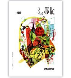 Copertina di Brecht Evens per la rivista Lök #4-Cicli (2013).