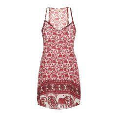 $8.83 Bohemian Print Spaghetti Strap Dress For Women