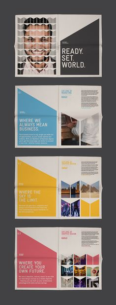 This is a great marketing campaign for Martin College. good printed collateral for launching a new campaign