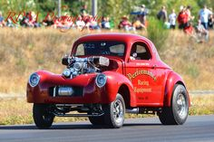 Supercharged Willys gasser