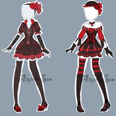 Victorian Outfits Adoptables CLOSED by AS-Adoptables.deviantart.com on @DeviantArt