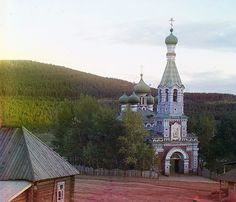 Church in Vetluga settlement.Photograph taken circa 1909