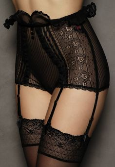 lace stockings, lace panties