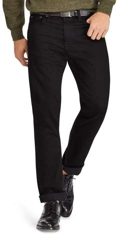 Polo Ralph Lauren Hudson Stretch Varick Slim Straight Fit Jeans in Black Denim Jeans, Black Jeans, Big & Tall Jeans, Polo Ralph Lauren, Mens Big And Tall, Stretch Denim, Slim, Mens Fashion, Fitness