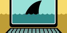 Tiburón dentro del ordenador