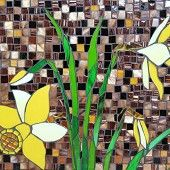 Mosaic Daffodils. Love the color contrasts |Pinned from PinTo for iPad|