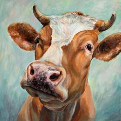 Buy Ermintrude the cow, Acrylic painting by Ruth  Aslett on Artfinder. Discover thousands of other original paintings, prints, sculptures…