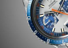 Scopri l'orologio Tudor Heritage Chrono, ispirato a un cronografo vintage degli anni '70, sul sito ufficiale Tudor