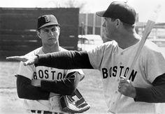 Carl Yastrzemski & Ted Williams, 1969.