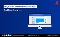 Do you have a Facebook Business Page? If not we will help you.. For more Information WhatsApp us @ +91 93 98 97 26 30 www.sophicapp.com #bestdigitalmarketingagency #BesDigitalMarketingAgencyinhyderabad #DigitalMarketingCompanyHyderabad #digitalmarketingservices #topdigitalmarketingservices #BestDigitalMarketingServicesinHyderabad Facebook Business, Business Pages, Digital Marketing Services, Web Application, App Development, Mobile App, Technology, Tech, Mobile Applications