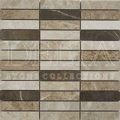 Milano Polished meshmounted mosaic 2,3x10 cm (DG 3123)