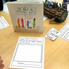 The Day the Crayons Quit writing prompt freebie! Have students write a letter to their favorite crayon color.