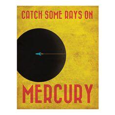 Retro Mercury Travel Poster on bezar.com