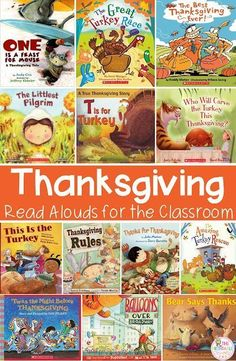 Thanksgiving Read Alouds, DIY Crafts, and Activities for Kindergarten Thanksgiving Placemats, Thanksgiving Books, Thanksgiving Preschool, Fall Books, Children's Books, Read Aloud Books, Kindergarten Classroom, Kindergarten Activities, Book Activities