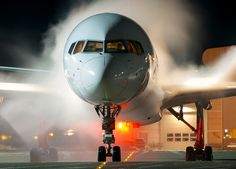 De-icing B757, via Flickr. #commercial aviation     My favorite aircraft:  started in May 1969-official retirement 2012.  Unable to fly the 14 yrs.