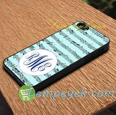 Music Monogram Phone Case iPhone cases, Samsung Galaxy cases, HTC one cases