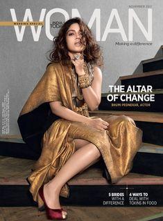 India Today Woman, November Bhumi Pednekar on the Magazine Cover. Indian Attire, Indian Girls, Covergirl, Bollywood, Fashion Show, Hair Makeup, Sari, Style Inspiration, Photoshoot