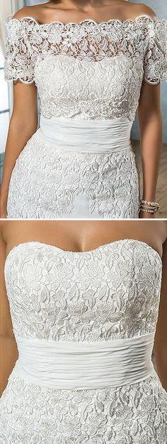 2-in-1 Lace Mermaid Wedding Dress ❤︎
