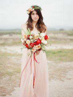 Blush and Poppy Wedding Inspiration