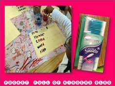 writing sight words with paint and q-tips