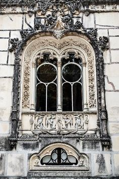 Window detail - Regaleira Palace, Sintra, Portugal