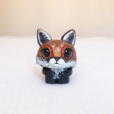 Red Fox Figurine Fox Figurine Polymer Clay Fox minimio by minimio