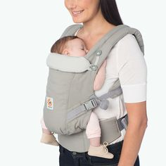 Our adjustable, newborn-ready Pearl Grey Adapt baby carrier is all you need to get stuff done while bonding with your baby. Adjustable from newborn to toddler Crossable shoulder straps for a personalized fit Lumbar support for extra back comfort Ergo Baby Carrier, Baby Carrier Costume, Kangaroo Baby Carrier, Mei Tai Baby Carrier, Baby Carrier Newborn, Baby Carrier Cover, Best Baby Carrier, Baby Wrap Carrier, Baby Bjorn