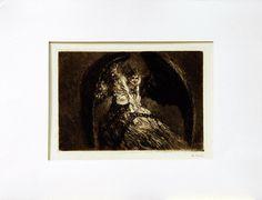 La Chaîne, gravure extraite du recueil Symboles Humains (24e planche), 1907, eau-forte, 27 x 35 cm (feuille) et 14 x 20 cm (gravure), Musée Denys-Puech à Rodez.