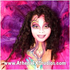 Cirque Du Soleil make up face paint by Athena Zhe
