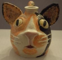 Animal Face Jugs by Kay Bevan/Four Paw Pottery