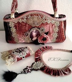Bohemain bag purse Shabby Chic Cross Body by ShabbyRomanticArt