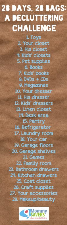 28 Days, 28 Bags ~ A Decluttering Challenge