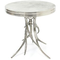 silver and glass side table - Google Search