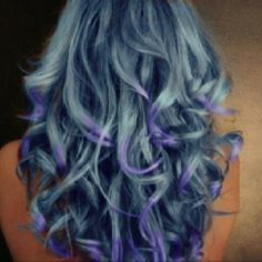 """yeah... this is going to be my """"Old Lady"""" blue hair rinse color!"""