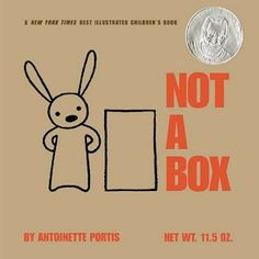 Not a Box is an adorable story about a little bunny that sees a lot of potential in a simple cardboard box.  Though everyone else sees it as a box he creates a race car, a mountain, a building, a robot, a hot air balloon and more.  I will be using this book as part of my introduction to form in my spring art class and one of the projects will be to create something from a cardboard box.