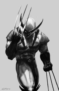 Wolverine sketch by edsfox on DeviantArt Comic Book Characters, Marvel Characters, Comic Character, Comic Books Art, Comic Art, Wolverine Comics, Logan Wolverine, Wolverine Tattoo, Hq Marvel