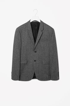 Wool melange blazer