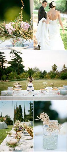 Another tea cup arrangement    http://www.stylemepretty.com/2011/10/04/orange-county-garden-wedding-by-erin-hearts-court-photography/