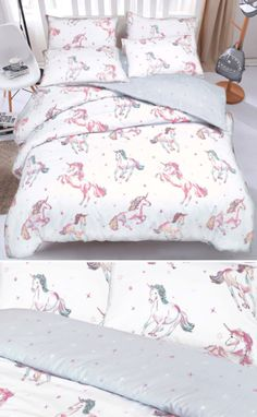 I love new bedding and what's better than new bedding with unicorns all over!