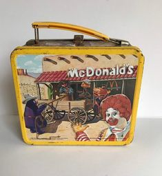 Rare 1982 McDonald's Cactus of the Canyon Metal Lunch Box an.- Rare 1982 McDonald's Cactus of the Canyon Metal Lunch Box and Thermos - Retro Lunch Boxes, Cute Lunch Boxes, Metal Lunch Box, Lunch Box Thermos, Just Lunch, Whats For Lunch, Vintage Tea Kettle, Insulated Lunch Box, School Lunch Box