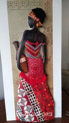 African Dolls, African Girl, African Women, African Fashion, African Pottery, Afrique Art, African Art Paintings, Clay Wall Art, Turkish Art