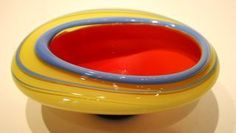 Yellow and Red Bowl – Fusion Art Glass Online Store