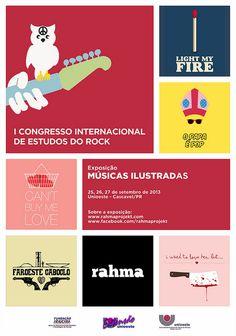 Exposição do Rahma Projekt no I Congresso Internacional de Estudos do Rock, promovido pela Unioeste (Cascavel/PR).    Mais informações sobre o evento: www.congressodorock.com.br    Sobre o projeto: www.rahmaprojekt.com    -------    Exhibition Rahma Projekt on the First International Congress on Rock'n'Roll Studies, sponsored by Unioeste (Cascavel/PR/Brazil).    More information about the event: www.congressodorock.com.br    About the project: www.rahmaprojekt.com