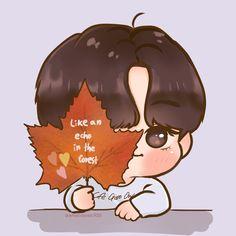 Bts Wallpaper Desktop, Chibi Wallpaper, Cartoon Wallpaper, Cute Wallpapers, Taehyung Fanart, Bts Taehyung, Cute Cartoon, Cartoon Art, Loli Kawaii