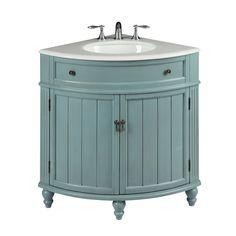 Seven Common Myths About Vintage Bathroom Vanity Sink Cabinets - Vintage Light Blue Cottage Style Thomasville Bathroom sink vanity Model #