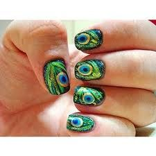 peacock nails - Google Search
