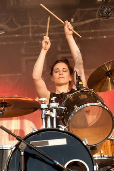 Fay Milton, drummer for Savages.