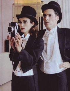 "Keira Knightley and Joe Wright photographed by Paolo Roversi in a photo shoot for ""Vogue"" Italy magazine......"