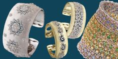 Buccellati ha pensato i bracciali Cuff tempestati di diamanti, smeraldi e rubini, ricchi di lavorazioni a mano uniche e sorprendenti.http://www.sfilate.it/231408/i-bracciali-cuff-buccellati-si-illuminano-diamanti-rubini
