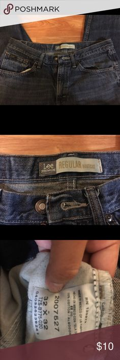 Men's jeans EVERYTHING MUST GO! I've just moved and need to get rid of everything or I will be donating by the end of July. All prices are negotiable! Bundle to save! ❤️••• men's 32x32 boot cut jeans. Great condition. Slight snag on the bottom (see photo) Lee Jeans Bootcut